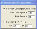 Branch Diameter Calculations